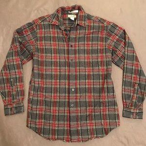 L.L. Bean Plaid Flannel Long Sleeve Shirt
